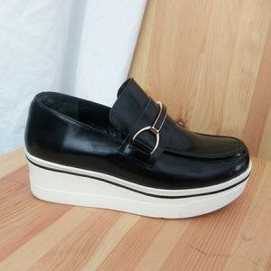 Stella McCartney Black Binx Loafer Patent Scarpa